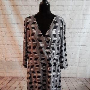 Ashley Stewart Faux Wrap Dress Sz 22/24